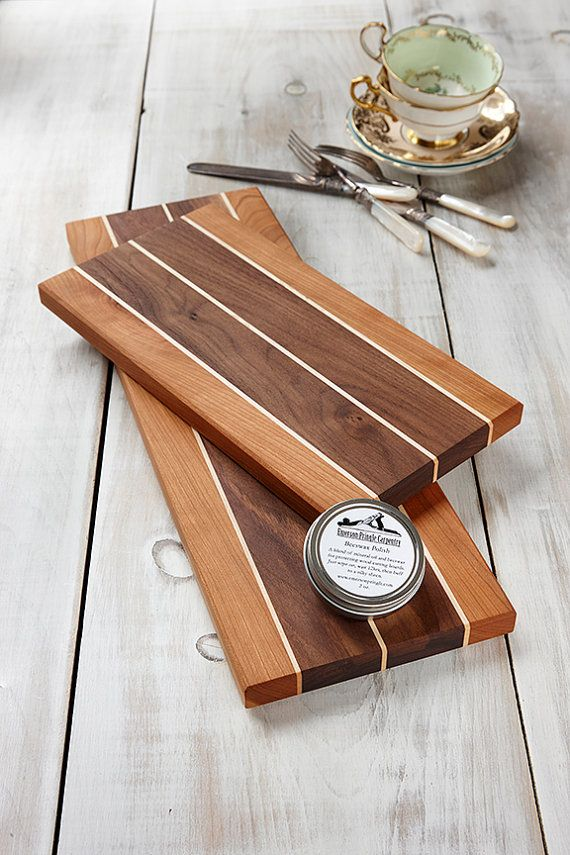 Wooden Cheese Boards Wedding Gift Maple Walnut and Cherry