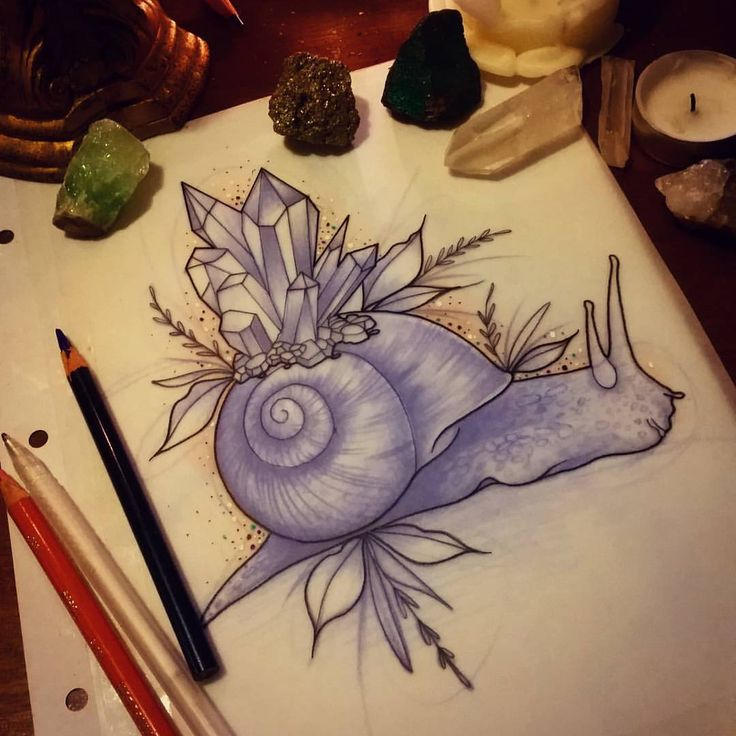 Rodjaasexface - Crystal snail for Yanina! #tattoo #design...