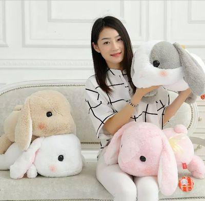 J1 alta qualidade orelhas de coelho de pelúcia brinquedo coelho 48 CM Kawaii animais de pelúcia Decro crianças / crianças presente de aniversário