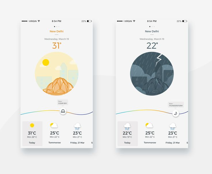 Weather app  big