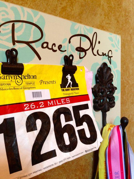Running Medal holder and Running Race bib Holder by FrameYourEvent, $37.99