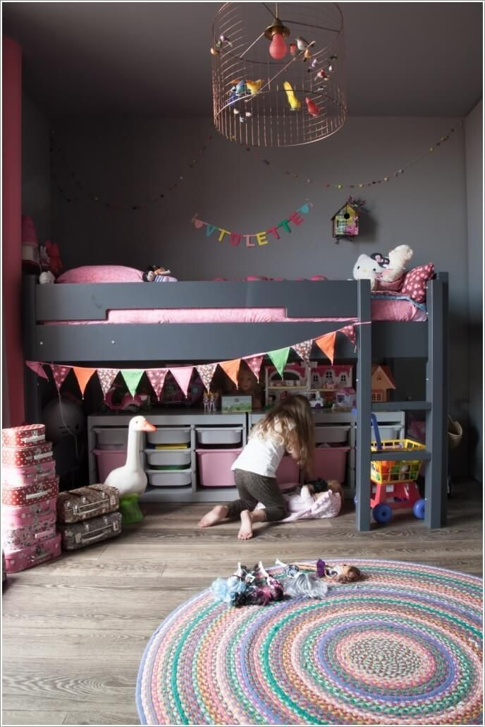 love the light clever kids room storage ideas