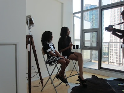 Me on the set of @reel2runway with Renee Thompson @runwayrenee We are getting ready to interview each other.