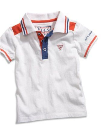 GUESS Kids Boys Polo Shirt with Striped Trim (12-24m),