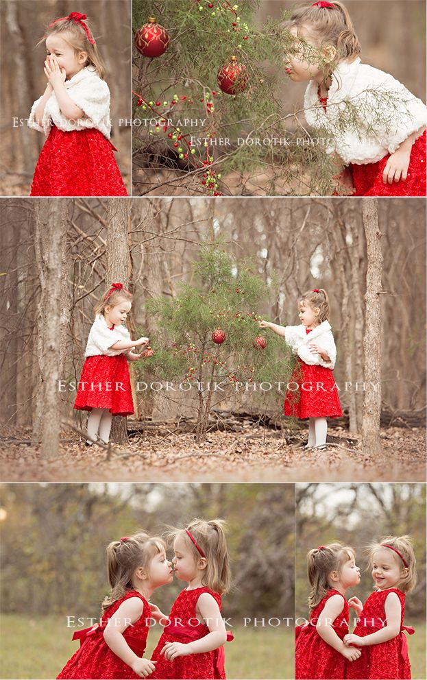 Christmas photography, twin photography, two year old twins, twin girls, decorating Christmas tree, style photography session, toddler photography, children photography, pictures, photos