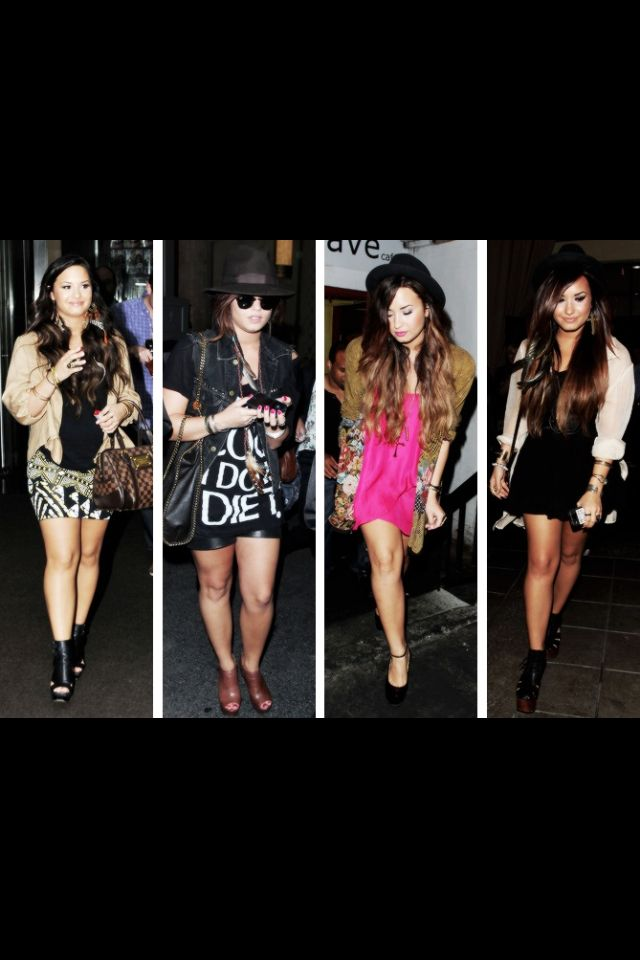 Demi Lovato-cute clothes, but they need to be a little longer if I were to ware them. :)