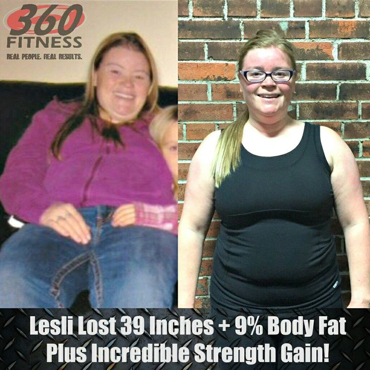 Big props to Lesli who has lost almost 40 inches, 9% body fat and increased her fit test results by 17X #360Fitness