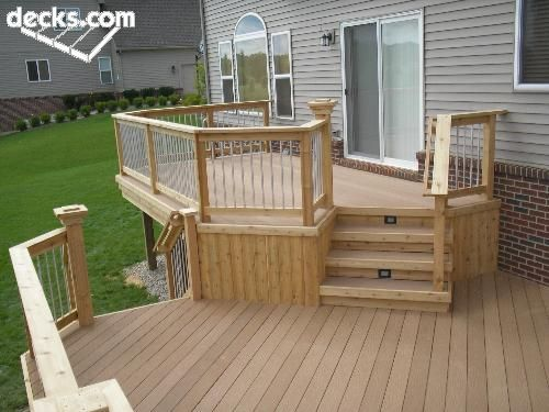 Best 25 backyard deck designs ideas on pinterest for Multi level deck ideas
