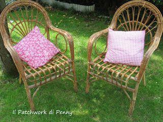 Il patchwork di Penny: Sedie di vimini..rinnovate!!