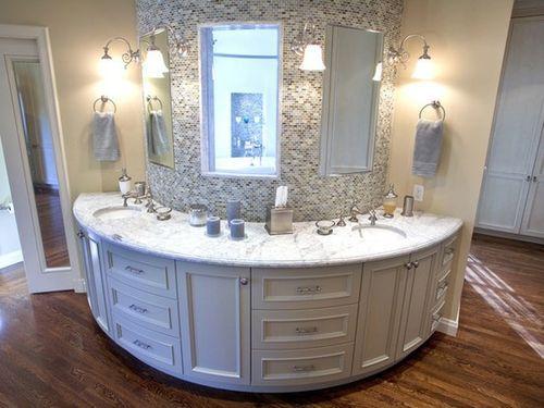 bathroomBathroom Vanities, Round Vanities, Dreams House, Dreams Bathroom, Bathroom Sinks, Bathroom Ideas, Curves, Master Bathroom, Bathroom Counter