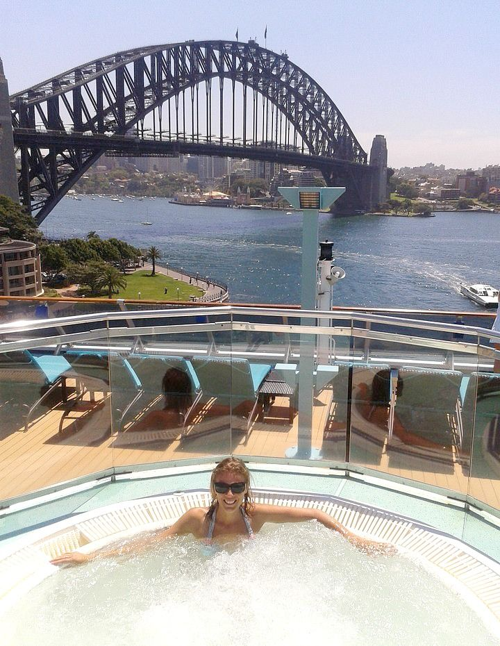 Cruising on Sydney Harbour, Australia with Carnival Spirit. Check it out here: http://www.ytravelblog.com/carnival-spirit-launch-in-sydney/