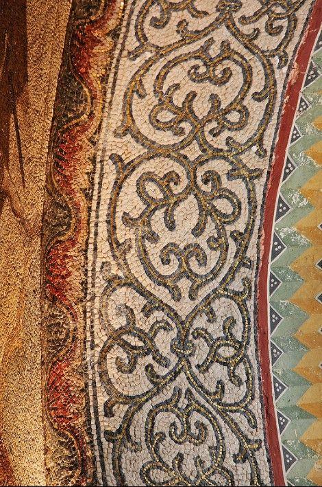 Byzantine mosaic work in Chora church, Istanbul, Turkey