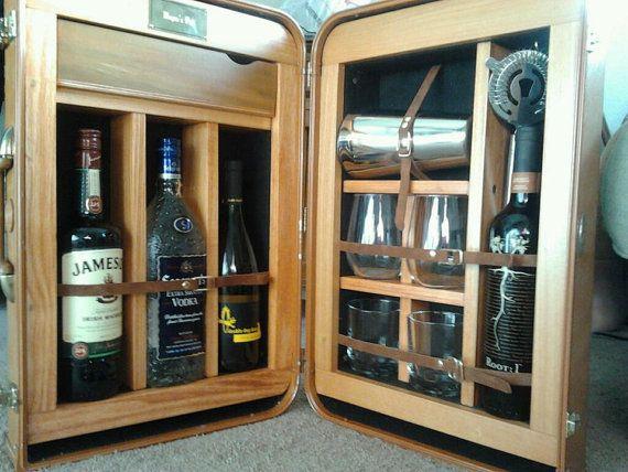 Traveling Pub Mobile Suitcase Bar By Thetravelingpub On