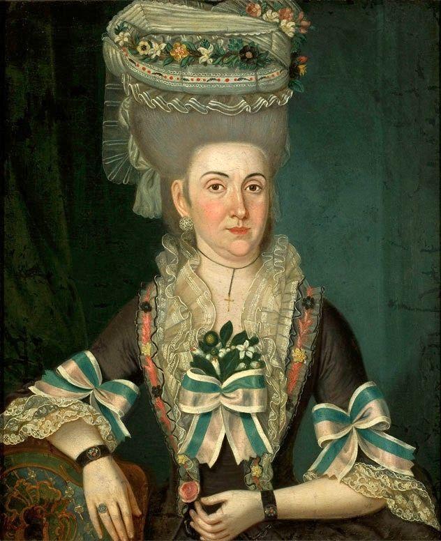Portrait of Marianna Bronisz née Mirucka by Schreiber, 1779 (PD-art/old), Muzeum Narodowe w Warszawie (MNW)