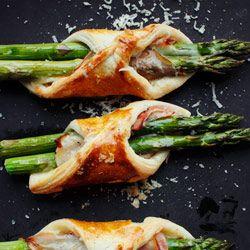 Szparagi w cieście francuskim - Przepis