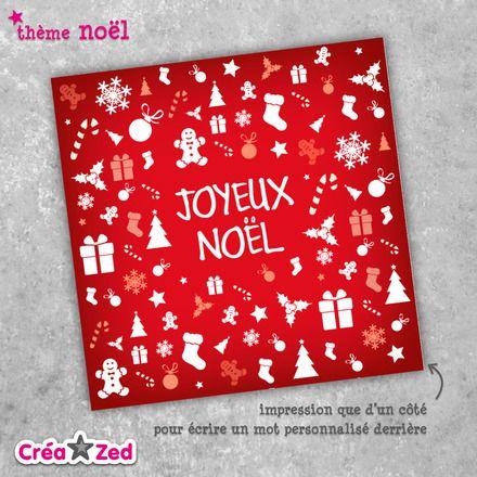 #Carte de #noël originale thème cadeaux, mix, rouge - enveloppe comprise