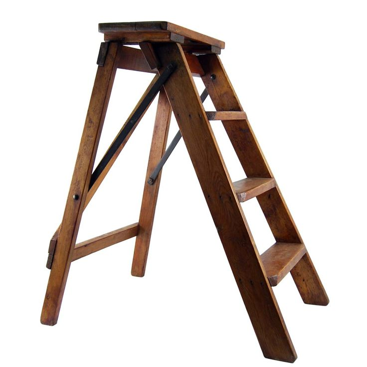 old wooden step ladders  3