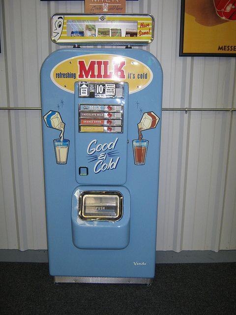 Milk Vending Machine.  Good and Cold!