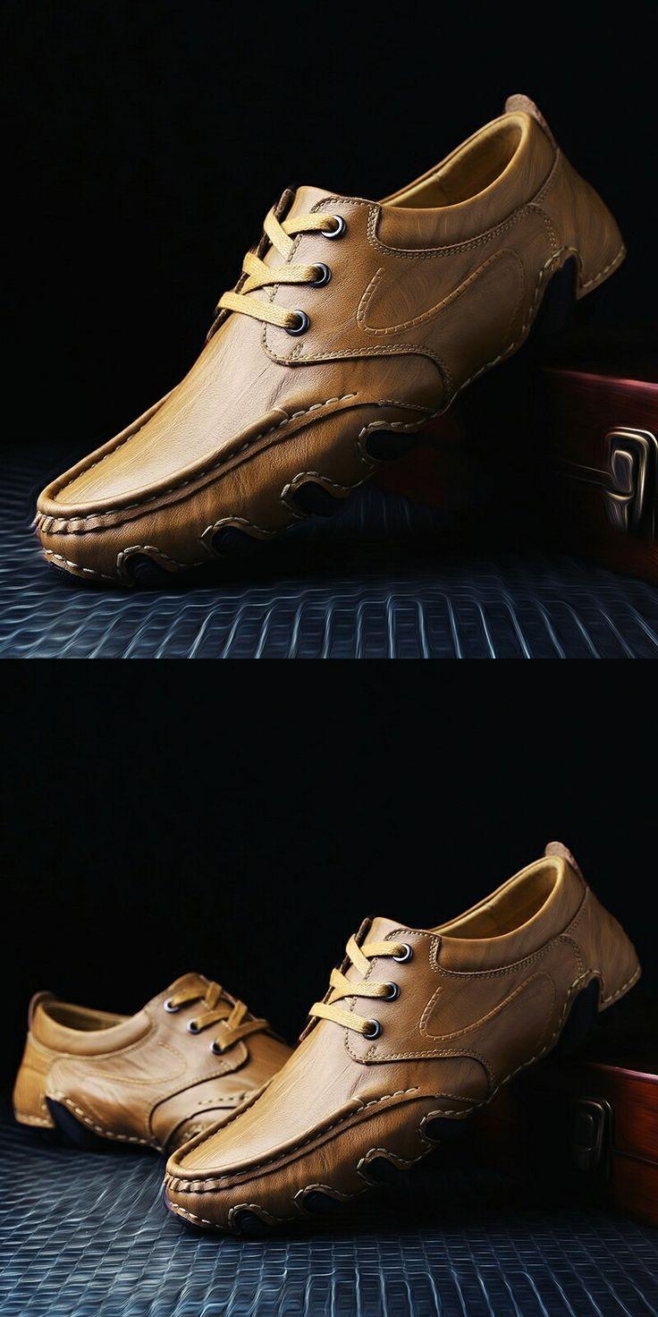 >> comprar aqui << Prelesty Outono Inverno Novo Designer de Couro Genuíno Respirável Homens Sapatos Casuais Pé Mocassins Sapatos Feitos À Mão Lace Up Comfort