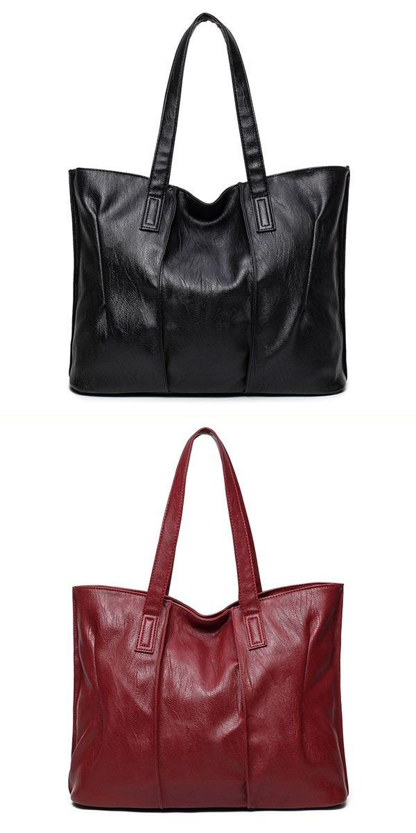 Handbags  10 women pu leather tote handbags simple shoulder bags capacity  shopping bags  3  pocket  handbags  handbags  burberry  handbags  tignane… bb71ee2628