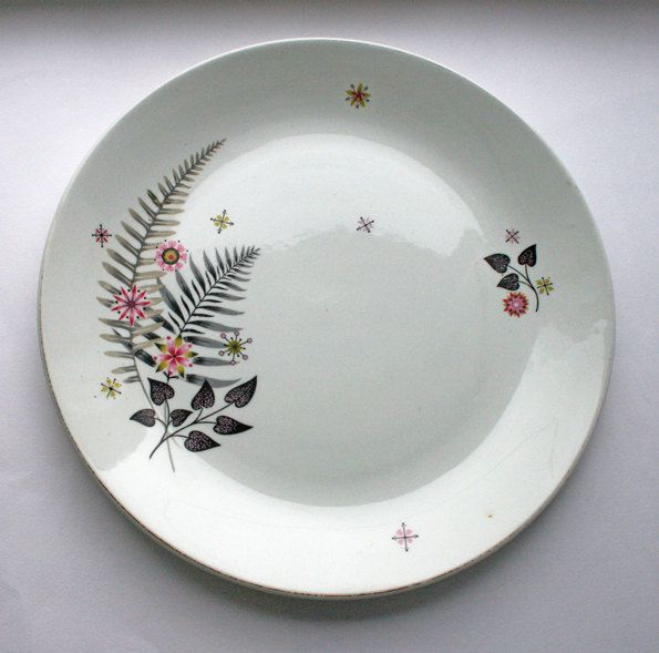Hostess Tableware plate by British Anchor. Floral china plate. English china by gardenfullofVintage on Etsy