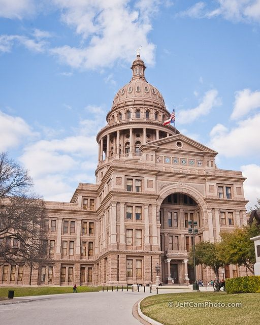Texas State Capitol Building In Late Afternoon Sun: Austin, TX