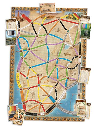Ticket to Ride map expansion: the Heart of Africa - Days of Wonder #boardgames