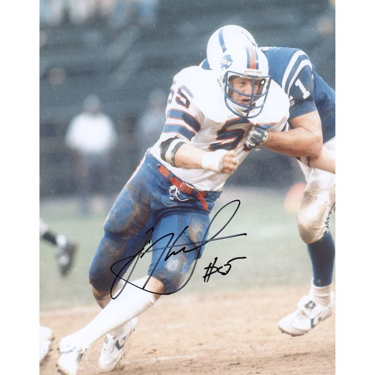 """Jim Haslett Buffalo Bills Fanatics Authentic Autographed 8"""" x 10"""" vs. Indianapolis Colts Fighting Tackle Photograph"""