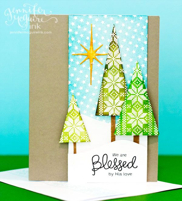 video hop christmas craftschristmas treesxmaswinter cardsholiday - Christmas Tree Card
