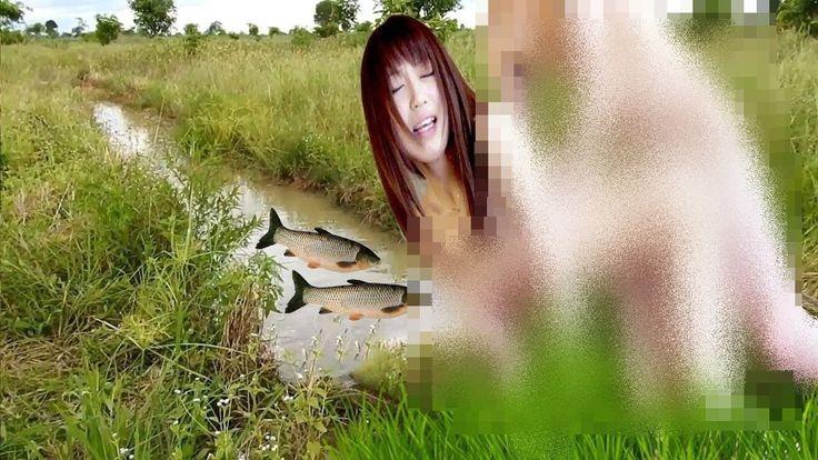 Beautiful Girl Fishing Amazing Fishing at Battambong How To Catch Fish B...