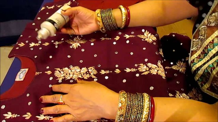 HOW TO PUT MIRRORS ON A SALWAR  KURTA AND GIVE IT A STUNNING LOOK.