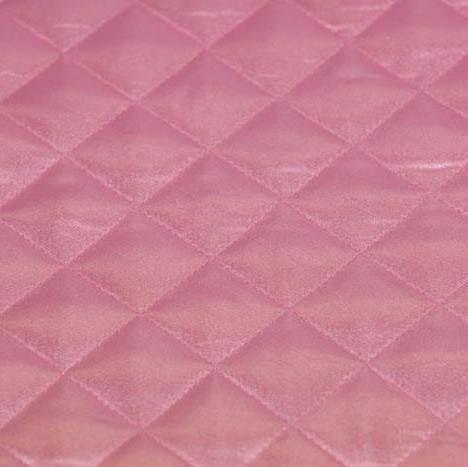 Roze Satijn doorgestikt van mooie kwaliteit, geschikt voor jassen, voering, kussens.