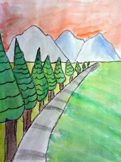 Check out student artwork posted to Artsonia from the Trees Using One Point Perspective project gallery at Cedar Creek Elementary.