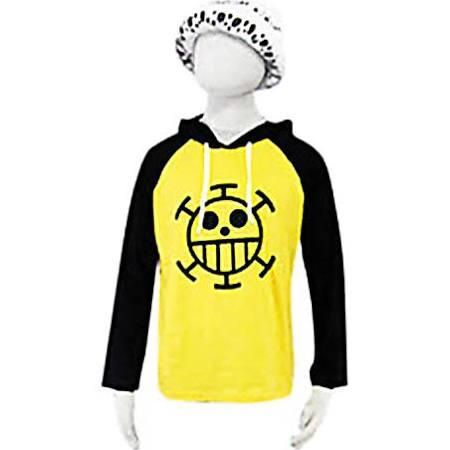 Inspired by One Piece Trafalgar Law Anime Cosplay Costumes Cosplay Hoodies Print Black / Yellow Long Sleeve Top #00006 - Brought to you by Avarsha.com