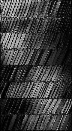 Pierre Soulages | Peinture 296 X 165 cm, 4 Janvier, 2014