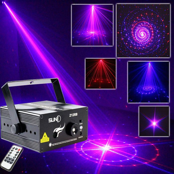 Mini Stage Lighting Remote 12 Patterns laser Projector DJ Disco Laser Lights For Sale  #Affiliate