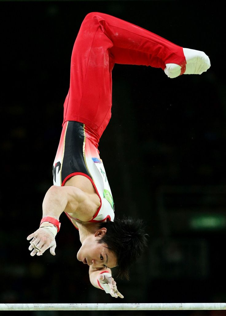 Kohei Uchimura of Japan competes on the horizontal bar during the Men's Individual All-Around final on Day 5 of the Rio 2016 Olympic Games at the Rio Olympic Arena on August 10, 2016 in Rio de Janeiro, Brazil.