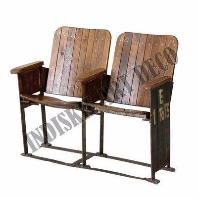 vecchio cinema banco vintage industriale panchine da giardino mobili da esterno sedie a sdraio
