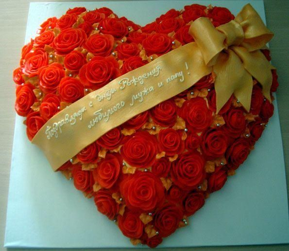 Фото торты ко дню святого валентина