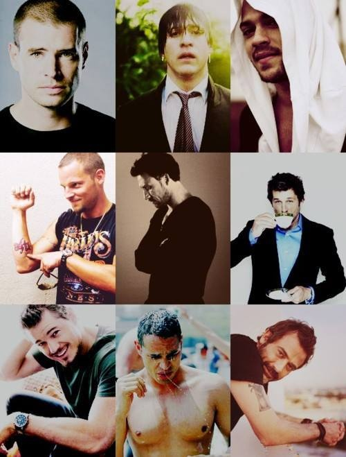 the delicious men of greys...yum to all but George.