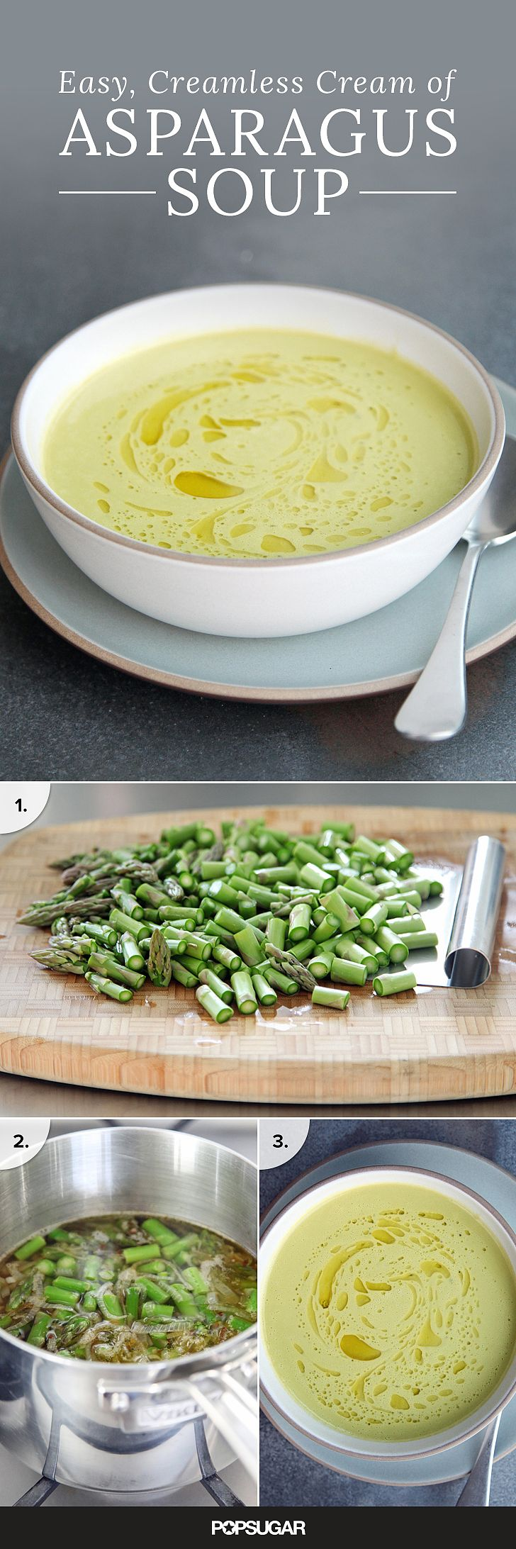 Instead of burying the flavor of asparagus under a blanket of cream, this delicate soup is subtly enriched with a less-expected ingredient: Greek yogurt. This simple swap is less about lightening things up and more about bringing asparagus's green, vegetal quality to the fore. (Its modest calorie count is a happy coincidence.)
