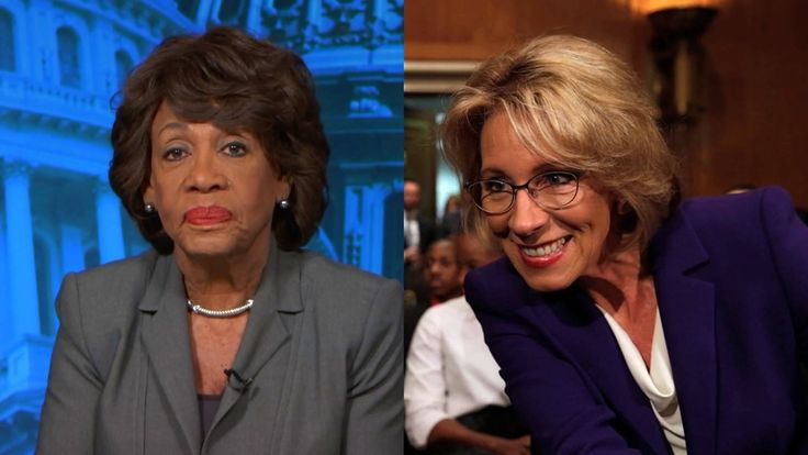 Rep. Maxine Waters: DeVos is a Billionaire Wannabe Teacher Who Doesn't Care About Public Education