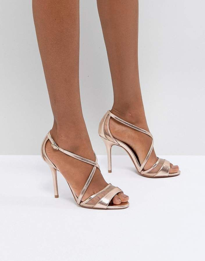 4870a0f6cdd3 High Heel Shoes. Head Over Heels by Dune Rose Gold Metallic Heeled Sandals.  (Shopstyle Affiliate)  SandalsHeels