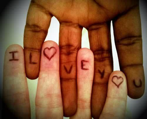 Interracial love! <3 this is beautiful!
