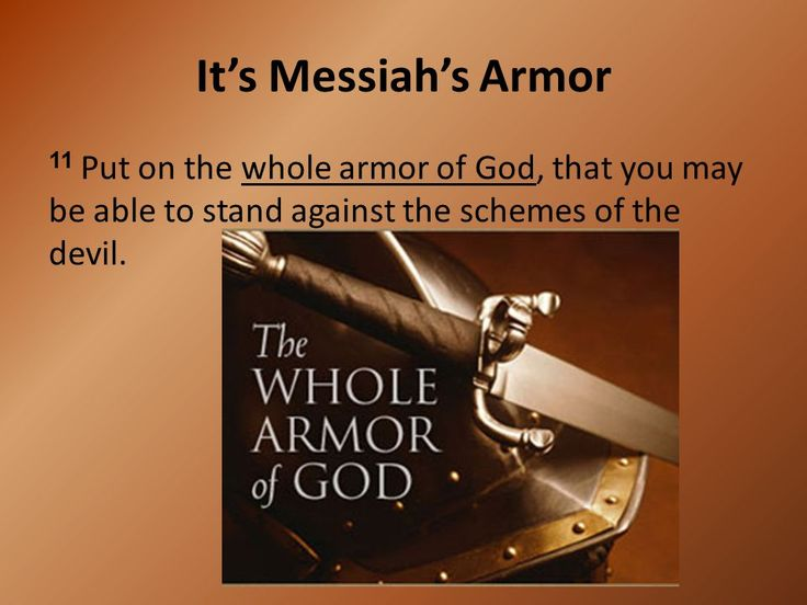 Prentresultaat vir armor of god