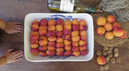Recette abricots rôtis au yhym