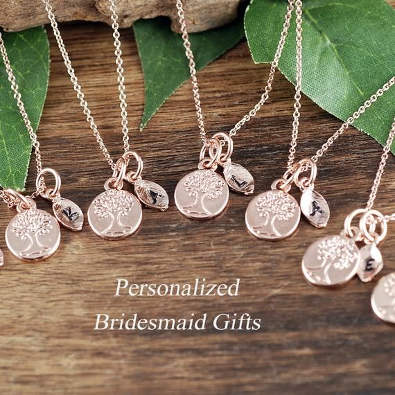 Bridal Party Jewelry, Bridesmaid Necklace, Gift for Bridesmaids, Bridesmaid Jewelry, Gift for Bridal Party, Necklace Set for Bridal Party