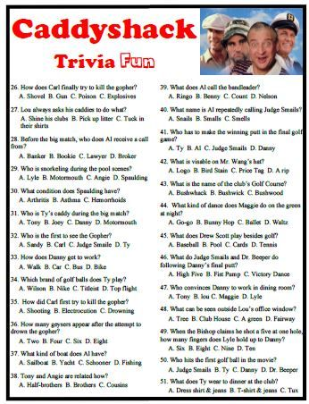 Caddyshack trivia is a fun way to recall a movie classic.