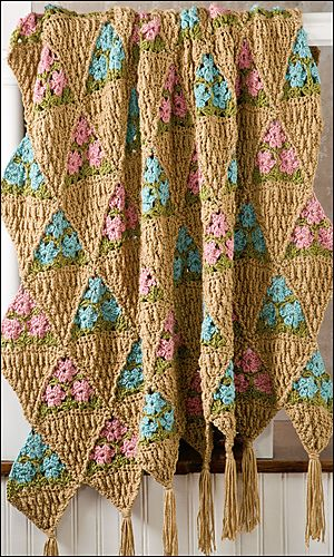 Ravelry: Flower Baskets Afghan pattern by Rena V. Stevens.