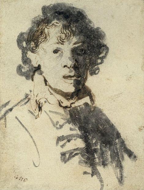Rembrandt van Rijn, Self-Portrait with Mouth open, c.1628-29 on ArtStack #rembrandt #art